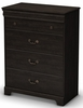 South Shore Quilliams Drawer Chest in Ebony - 3377034
