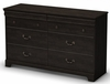 South Shore Quilliams Dresser in Ebony - 3377027