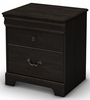 South Shore Quilliams Nightstand in Ebony - 3377060
