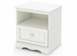 South Shore Savannah Nightstand in Pure White - 3580062