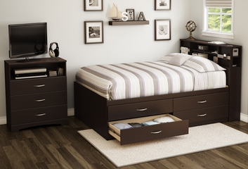 South Shore Step One Full Captains Bed 3PC Bedroom Set - 3159209