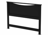 South Shore Step One Pure Black Full Headboard - 3107090