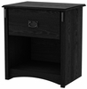 South Shore Tryon Traditional 1 Drawer Nightstand in Black Oak - 3747062