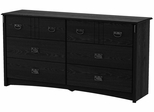 South Shore Tryon Traditional 6 Drawer Dresser in Black Oak - 3747010