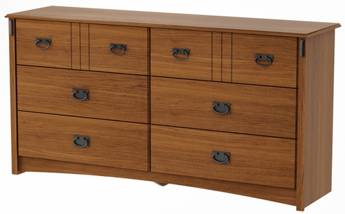 South Shore Tryon Traditional Dresser in Roasted Oak - 3791010