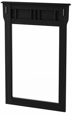 South Shore Tryon Traditional Mirror in Black Oak - 3747146