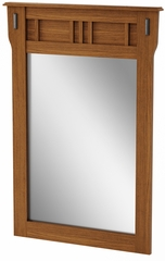South Shore Tryon Traditional Mirror in Roasted Oak - 3791146
