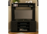 South Shore Vertex Transitional Corner TV Unit in Ebony - 4277629