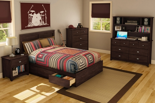 South Shore Willow Havana Full Mates Bedroom Set - 6PC - 3439211