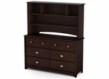 South Shore Willow Transitional Dresser with Hutch - 3339072