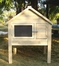 Southern Dome Rabbit Hutch in Natural Cedar - NewAgeGarden - ECORH202