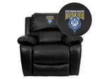 Southern Maine Huskies Embroidered Black Leather Rocker Recliner  - MEN-DA3439-91-BK-41094-EMB-GG