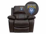 Southern Maine Huskies Embroidered Brown Leather Rocker Recliner  - MEN-DA3439-91-BRN-41094-EMB-GG