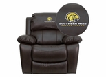 Southern Mississippi Golden Eagles Brown Leather Rocker Recliner - MEN-DA3439-91-BRN-45026-EMB-GG