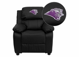 Southwest Baptist University Bearcats Black Leather Kids Recliner - BT-7985-KID-BK-LEA-41072-EMB-GG