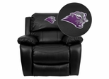 Southwest Baptist University Bearcats Black Leather Rocker Recliner - MEN-DA3439-91-BK-41072-EMB-GG