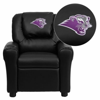 Southwest Baptist University Bearcats Embroidered Vinyl Kids Recliner - DG-ULT-KID-BK-41072-EMB-GG