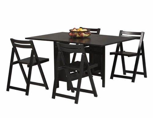 Space Saver 5-Piece Set - Linon Furniture - 901BLK-KD-U