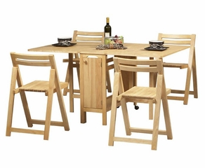 Space Saver 5-Piece Set - Linon Furniture - 901NAT-KD-U