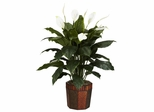 Spathyfillum with Vase Silk Plant - Nearly Natural - 6638