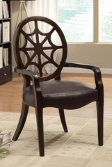 Spider Back Accent Chair in Brown - 900526