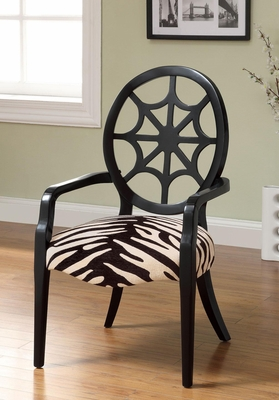 Spider Back Black Accent Chair - 900525