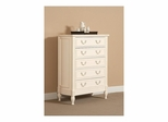 Splendor 5 Drawer Chest Antique Parchment - Largo - LARGO-ST-B2500-30