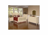 Splendor Sleigh Bedroom Set 5 Piece Antique Parchment - Largo - LARGO-WG-B2500-BEDROOM-SET