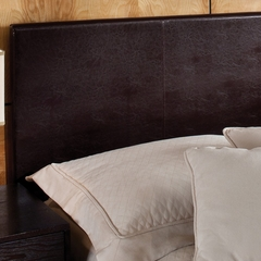 Springfield Full/Queen Size Upholstered Headboard with Frame in Brown Vinyl - Hillsdale Furniture - 1613HFQR