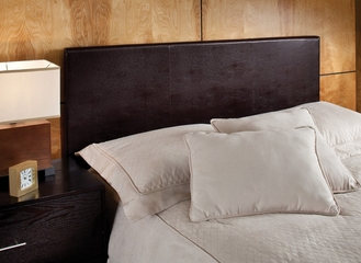 Springfield Twin Size Upholstered Headboard with Frame in Brown Vinyl - Hillsdale Furniture - 1613HTWR