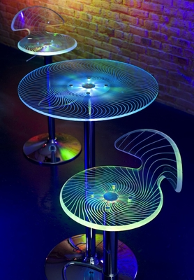 Spyra Bar Table and Barstools Set - BT-BS-SPYRA
