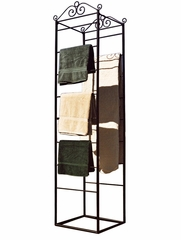Square Blanket/Magazine Rack - Black - Pangaea Home and Garden Furniture - FM-0010BLS-B-K