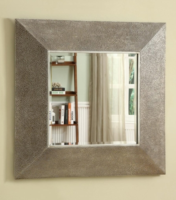 Square Droplet Frame Mirror in Silver Finish - 901737