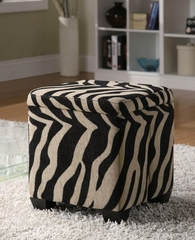 Square Fabric Storage Ottoman - 501086