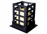 "Square Pillar - Small 7"" - Black - Pangaea Home and Garden Furniture - FM-C4271S-K"