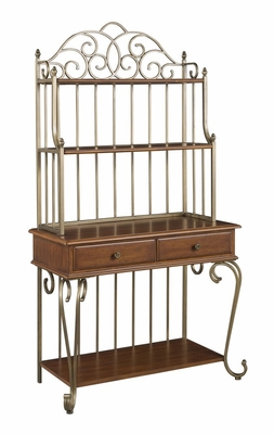 St. Ives Server with Bakers Rack in Cinnamon - Home Styles - 5051-615