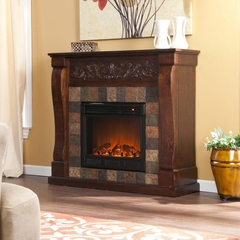St. Lawrence Espresso Electric Fireplace - Holly and Martin