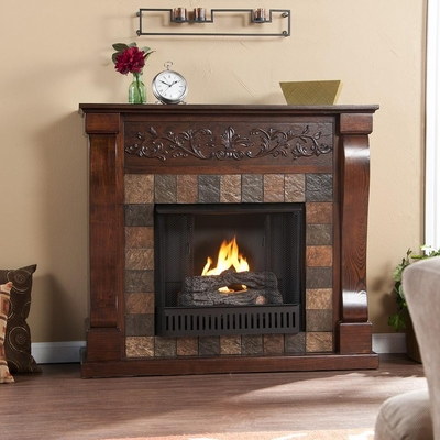 St. Lawrence Espresso Gel Fireplace - Holly and Martin