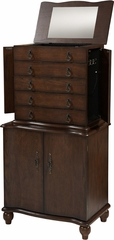 Stacey Jewelry Armoire in Warm Oak - Linon