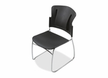 Stack Chairs - Black 4 Count- BLT34428