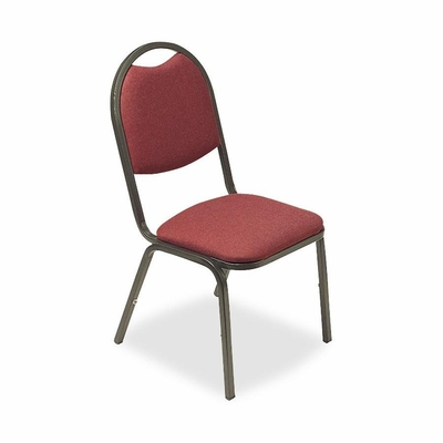 Stack Chairs - Burgundy 4 Count- LLR62513
