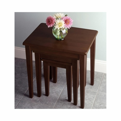 Stackable Nesting Tables in Walnut - Winsome Trading - 94320