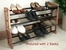 Stacking Cedar Shoe Rack that Expands - Proman Suit Valet - CDR-8942