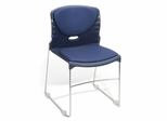 Stacking Chair - Fabric Seat and Back Stack Chair (Set of 4) - OFM - 320-F-SET