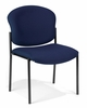 Stacking Chair - Fabric Upholstered Armless Stacking Chair - OFM - 408