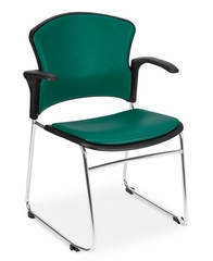 Stacking Chair - MultiUse Vinyl Seat and Back Stacker (Set of 4) - OFM - 310-VAM-A-SET