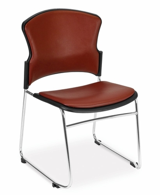 Stacking Chair - MultiUse Vinyl Seat and Back Stacker (Set of 4) - OFM - 310-VAM-SET