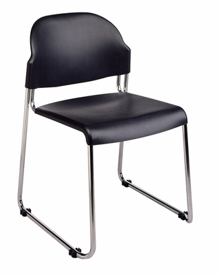 Stacking Chair - Stack Chair with Plastic Seat and Back (Set of 4) - Office Star - STC3030