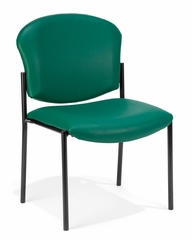 Stacking Chair - Vinyl Upholstered Armless Stacking Chair - OFM - 408-VAM