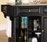 Stainless Steel Top Kitchen Cart/Island in Black Finish - Crosley Furniture - KF30002EBK